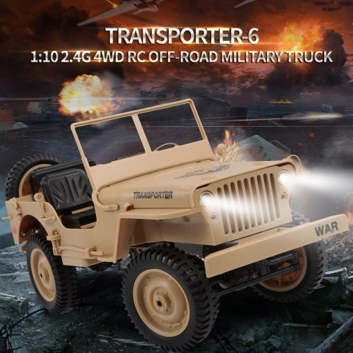 JJR/C Q65 1/10 2.4G 4WD RC Off-road Military Truck Image