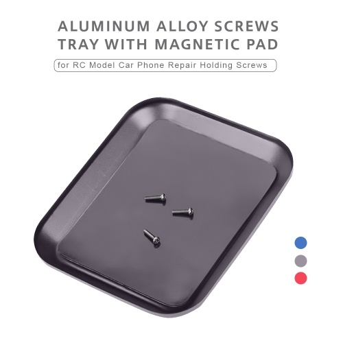 Aluminum Alloy Screws Tray with Magnetic Pad for RC Model Phone Repair Holding
