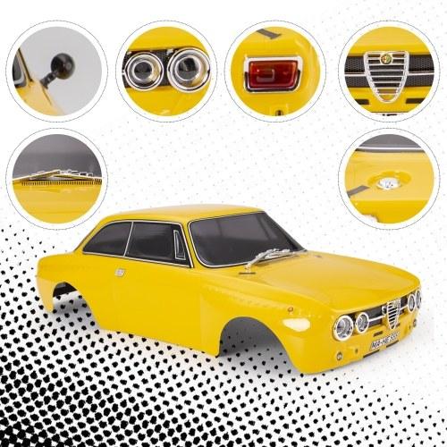 Killerbody 48321 RC Car Body Shell Kit for 257mm Wheelbase for 1/10 RC Touring Car Frame Printed Finished Car Body Imitate Alfa Romeo 2000 GTAm