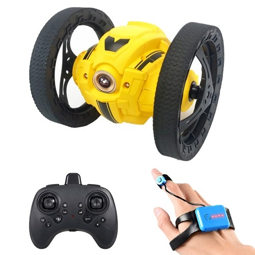 805 2WD 2.4Ghz RC Bounce Car RC Jump Car Remote Control Stunt Car Watch Induction 360¡ã Rotation 27.6 inches Bouncing Music Led Light Image
