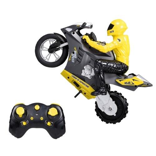 2,4 ГГц 1/6 RC мотоциклы 360 ° спиннинг дрифт трюк стенд 20 км / ч 2WD 6-осевой гироскоп RC мотоциклы трюк автомобиль фото