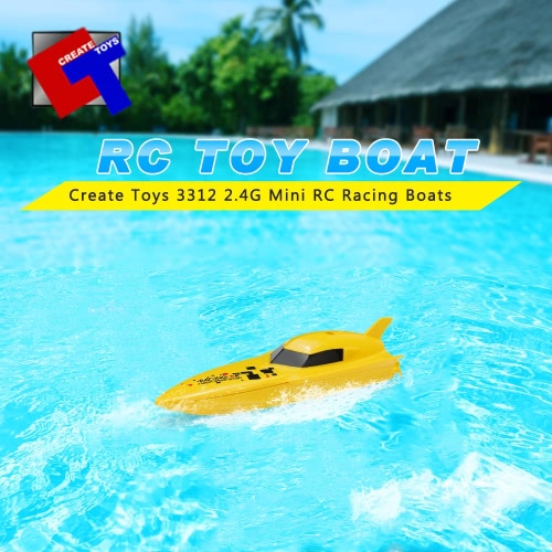 Original Create Toys 3312 2.4G 2CH Mini RC Racing Boats