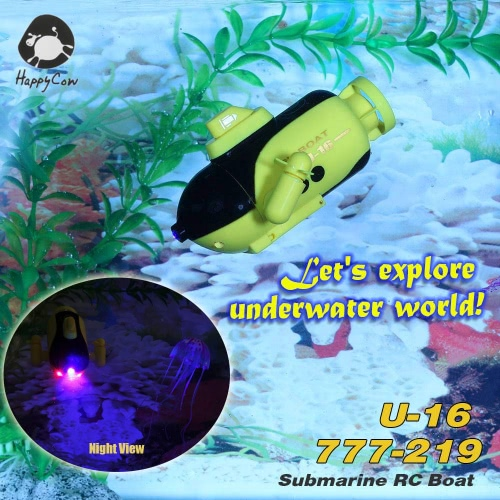 HappyCow U 16 777-219 40 MHz のラジオ コントロール RC 潜水艦