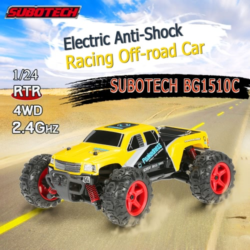 Original SUBOTECH CoCo-4WD BG1510C 2.4GHz 1/24 Four-Wheel Drive High Speed Racing Car RC RTR Off-road Car