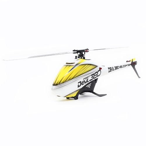 Оригинальный ALZRC Devil 380 FAST Flybarless Belt Drive 6CH 3D Вертолет Super Combo с двигателем ESC Servo Gyro