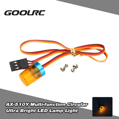 Original GoolRC AX-510Y Multi-function Circular Ultra Bright Police LED Light  for RC Police Firefighting Ambulance Car Light with Strong-blasting Flashing Fast-slow 360 Degree Rotating Function