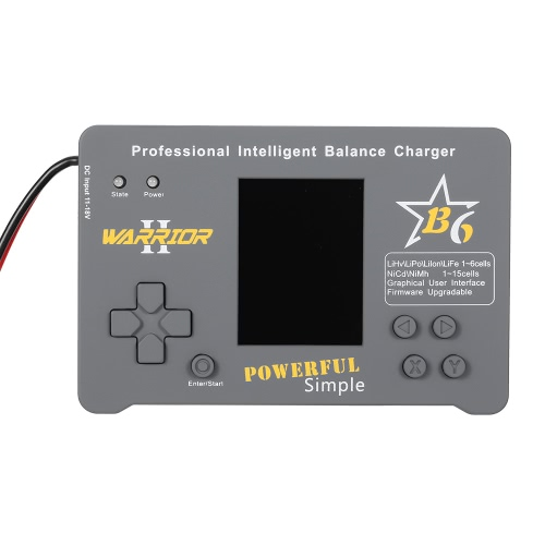 WARRIOR B6 CPSD 100W LiPo Li-ion LiFe NiMH NiCd Pb Battery Professional Intelligent Balance Charger/Discharger for RC Drone Helicopter Car Boat