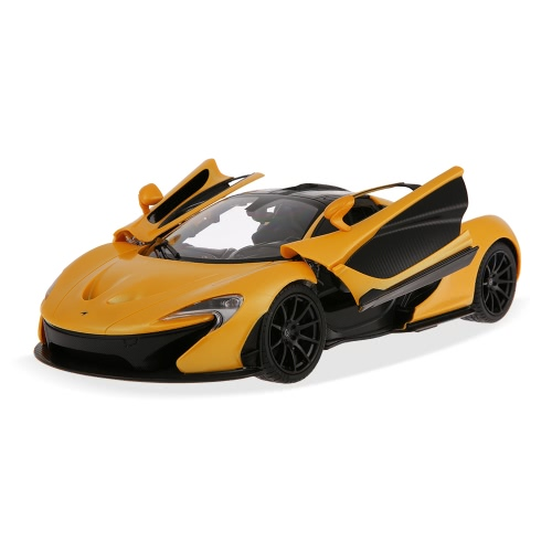 Original RASTAR 75110 27MHz 1/14 McLaren P1 RC Super Sports Car Simulation Model with Manual Open Door RTR