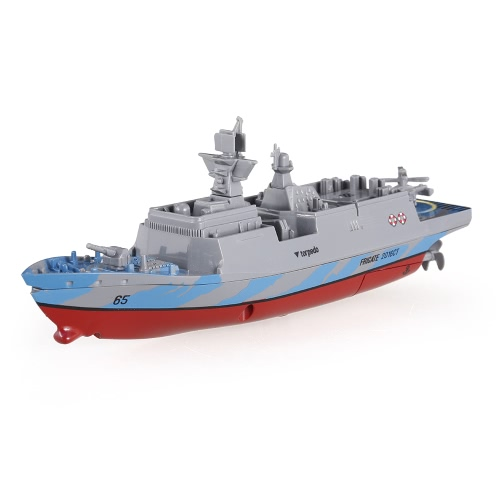 Crear Juguetes Estrella del Mar Estrella 3318 2.4GHz Toda la Dirección Navegar Mini Radio Control Barco de guerra eléctrico RTR
