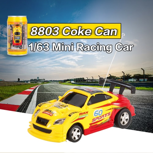 FENGQI TOYS 9803 Coke Can 1-63 Speed Mini Racing Radio Control Car Collection Kids Gift Decoration