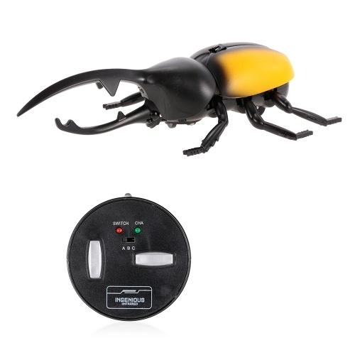 Infravermelho Controle Remoto Simulação Besouro Mini RC Animal Crianças Toy Boy Presente