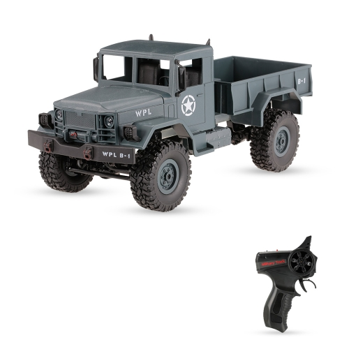 WPL B-14 1/16 2.4GHz 4WD RC Crawler Off-road Military Truck Car z reflektorem RTR