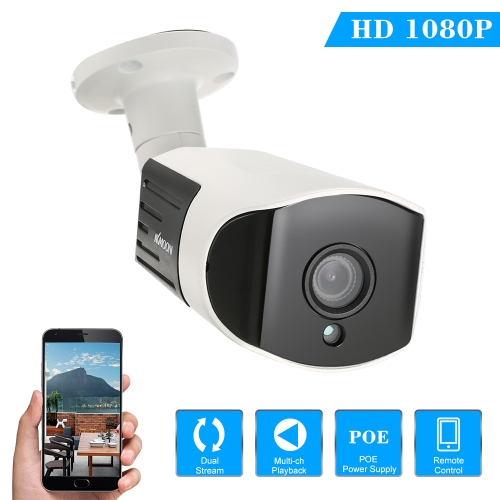 KKmoon 1080P HD P2P POE IP Camera
