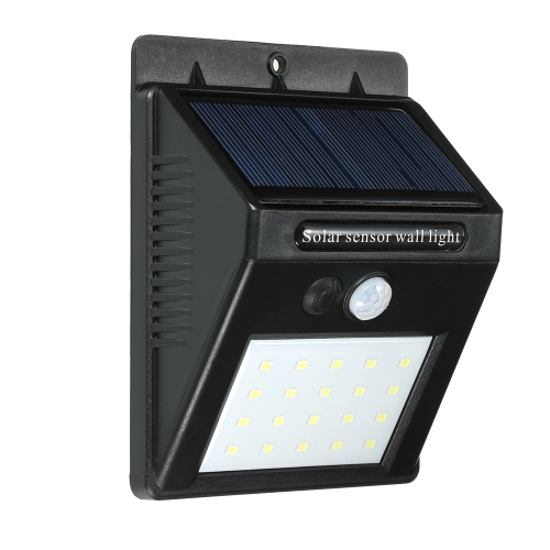 Sensor solar de movimiento PIR Sensor de ahorro de energía Luces de la noche
