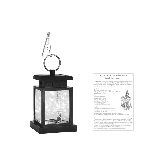 Solar Powered Flickering Candle Lantern Lamp Hanging Fairy Light Solar Power Star LED String Lights Outdoor Waterproof