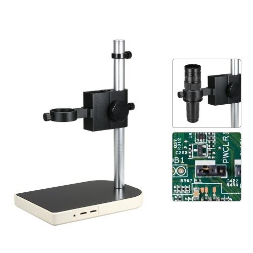 Suporte industrial da câmera do CCD regulamento superior e para baixo de 41mm Adjsutable Suporte fixo da tabela da lente do microscópio do laboratório da indústria de Digitas Suporte fixo do anel duplo
