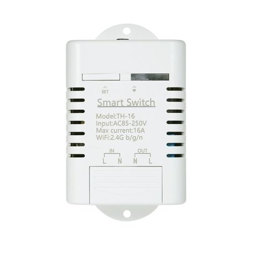 Interruptor Wifi TH-16 Compatível com Sonoff & EWeLink 16A / 3500 W Monitoramento de Temperatura Interruptor Inteligente Kit de Automação Residencial