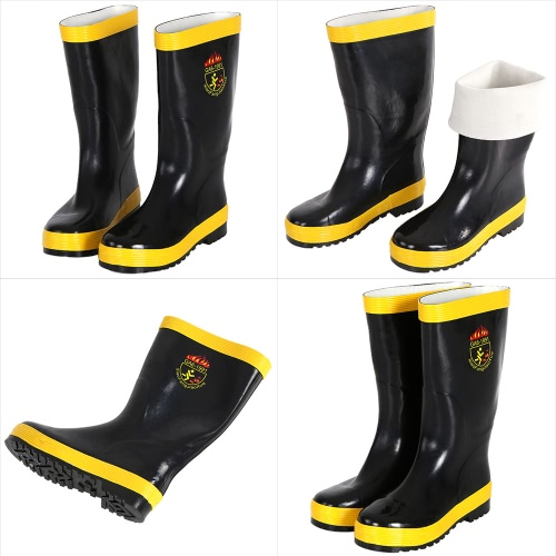Fire Protection Boots Anti-fire Waterproof Non-slipping Electrical Proof Chemical Proof Fire Fighting Boots