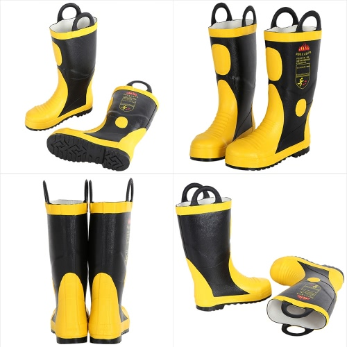 Portable Fire Fighting Boots Fireproof Waterproof Chemical Proof Electrical Proof Anti Puncture Fire Protection Equipment