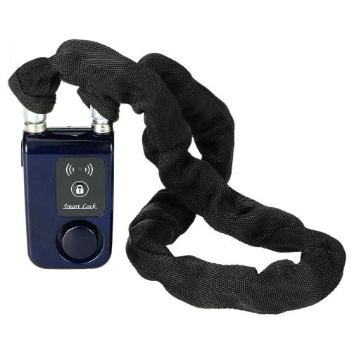Bluetooth 80cm Blue Chain Smart Lock Anti Theft Alarm Keyless Phone APP Control Lock
