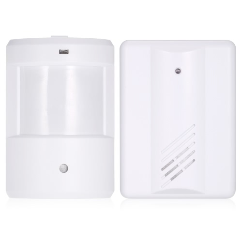 Wireless PIR Motion Sensor Doorbell Long Transmission Range Volume Adjustment