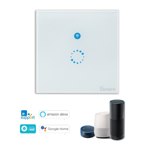 SONOFF T1 1 Gang Smart WiFi Wall Light UK Switch