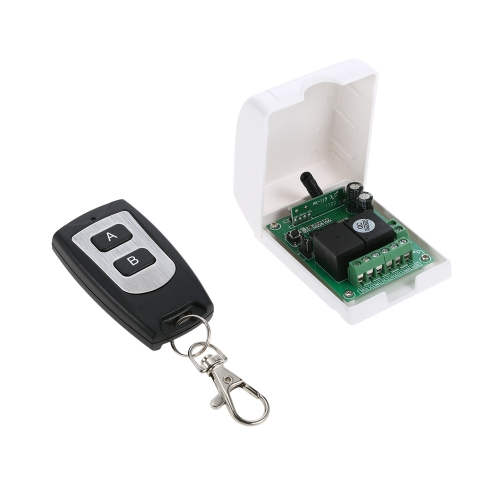 Smart Home 433Mhz RF DC 12V 2CH Learning Code Wireless Remote Control Switch