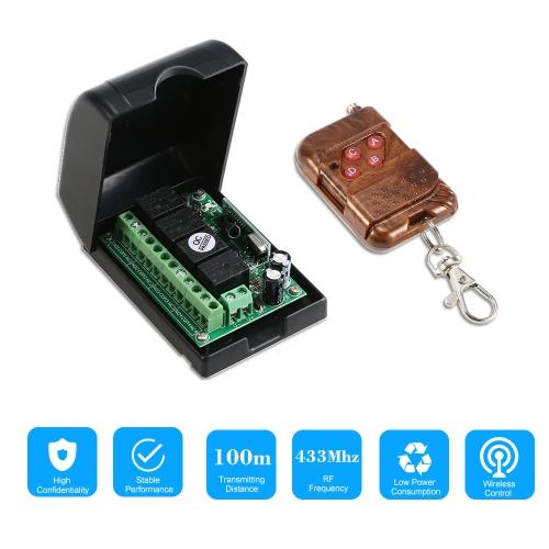 Smart Home 433Mhz RF 4CH Wireless Remote Control Switch +1*Remote Control 1527