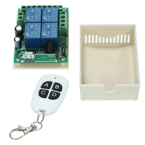 Smart Home 433Mhz DC 12V 4CH Wireless Remote Switch