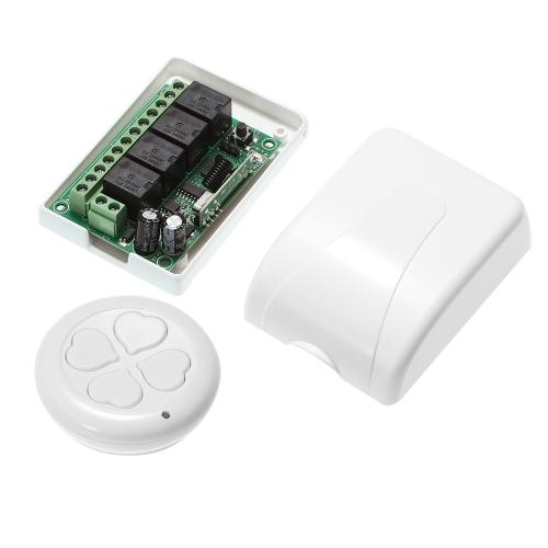 433Mhz DC 12V 4CH Wireless Remote Control Switch