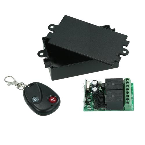 Interruptor de controle remoto sem fio universal da CC 12V 2CH de 433MHz
