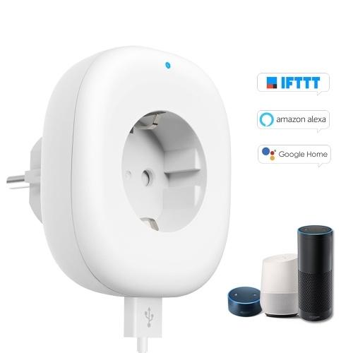 Wifi Smart Socket Plug with Big On/Off Switch Button + USB Port