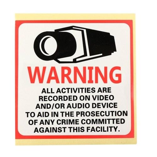 Etiqueta de advertência impermeável da câmera do CCTV da segurança 24HR