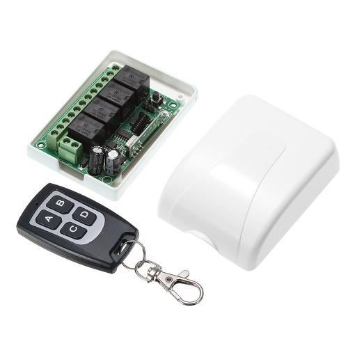 ワイヤレスリモートコントロールスイッチレシーバモジュールと1PCS 4キーRF 433 Mhzトランスミッタリモートコントロール