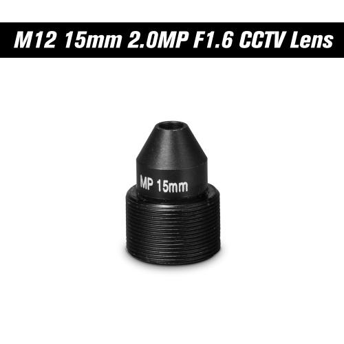 """Lente Pinhole HD 2.0 Megapixel M12 CCTV MTV Scheda 15mm Lente 1 / 2.7 """"Apertura F1.6 28,3 gradi per Telecamere di sicurezza"""