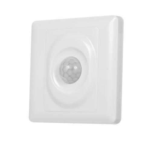 Sensor de movimento infravermelho automático fixado na parede do IR do interruptor leve