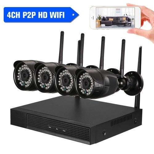 4CH 720P / 1080P HD WiFi NVRキット