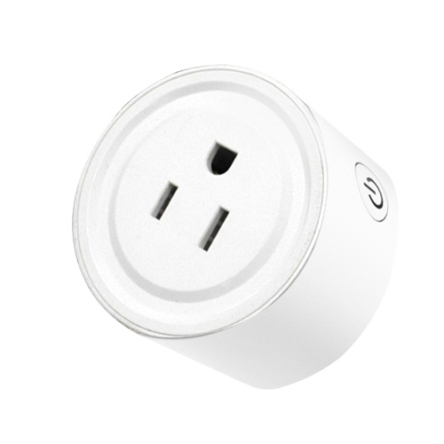 Mini Intelligent Socket Plug WIFI Remote Control Timing Switch Support Voice Control with ON/OFF Button