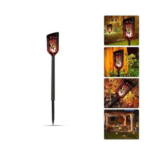 Llama solar LED Parpadeo Lámparas de jardín Luz LED de antorcha 102PCS LED