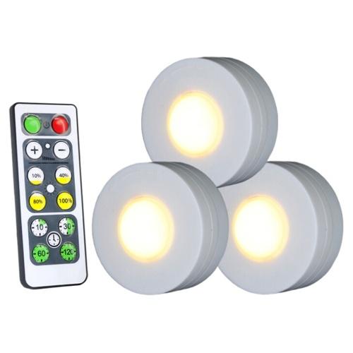Diodo emissor de luz sob a luz do disco da lâmpada do armário com luz morna de controle remoto 4000K