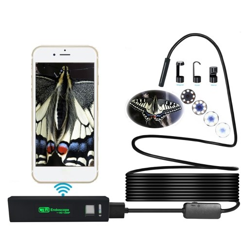 1200P HD WiFi Connection USB connection Endoscope Inspection 2m LED Snake Camera