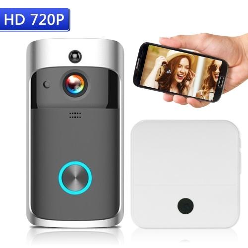 واي فاي الذكية اللاسلكية الأمن doorbell الذكية HD 720P البصرية إنترفون تسجيل الفيديو باب الهاتف
