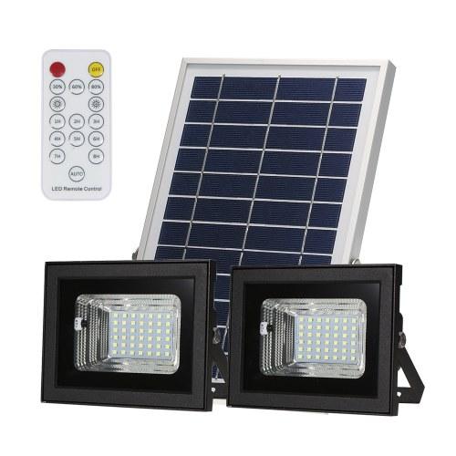 Holofote Solar de Duas Cabeças 42 LEDs SMD com Controle Remoto