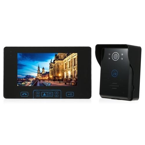 2,4 GHz Wireless Digital Türsprechanlage Türklingel Intercom System 1 * Innenmonitor & 1 * Outdoor Kamera
