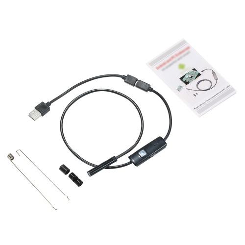 OWSOO 7MM 6 LED Lens Endoscope-0.5M