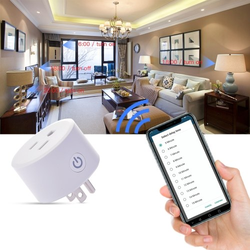 WIFI Plug Smartplug Timing Socket by Homekit Wireless Voice Intelligent Control RC Car Remote Control Home US Type