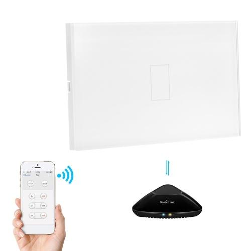 Broadlink TC2 US/AU RF 433Mhz Light Switch 1/ Gang Touch Switch Panel