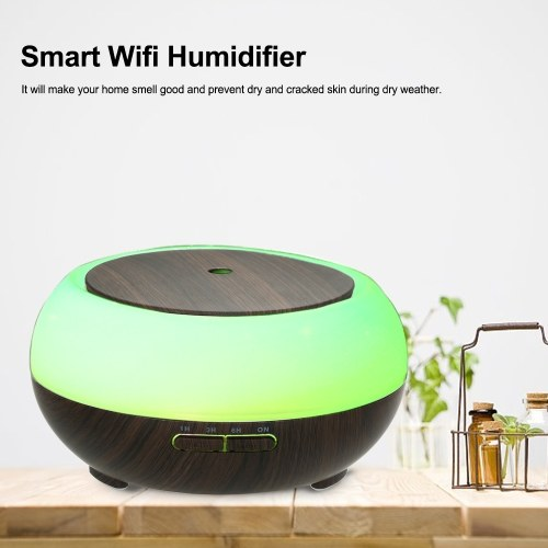 Smart Wifi Wireless LED Night Lamp 400ml Humidifier Essential Oil Aromatherapy Mist Diffuser
