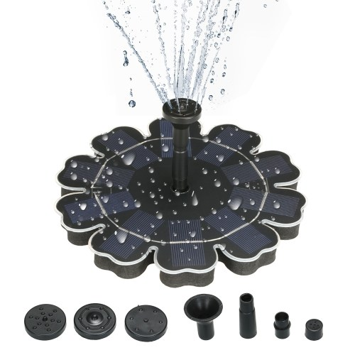 Pompe à économie d'énergie à économie d'énergie de panneau solaire en forme de fleur de fontaine d'énergie solaire de 195mm