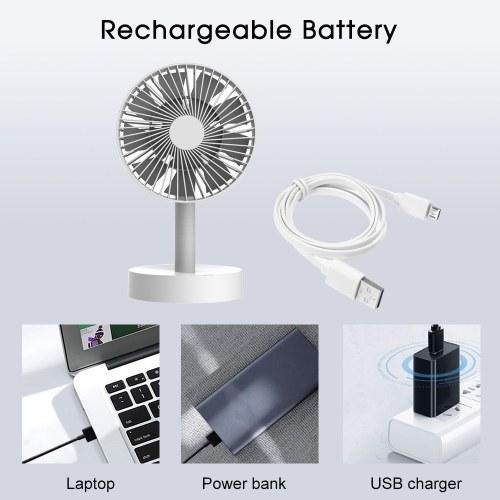 Rotatable Oscillating Table Fan Personal Desk Mini Fan 3 Speeds Adjustable Head Enhanced Airflow and Low Noise Computer Laptop USB Fan